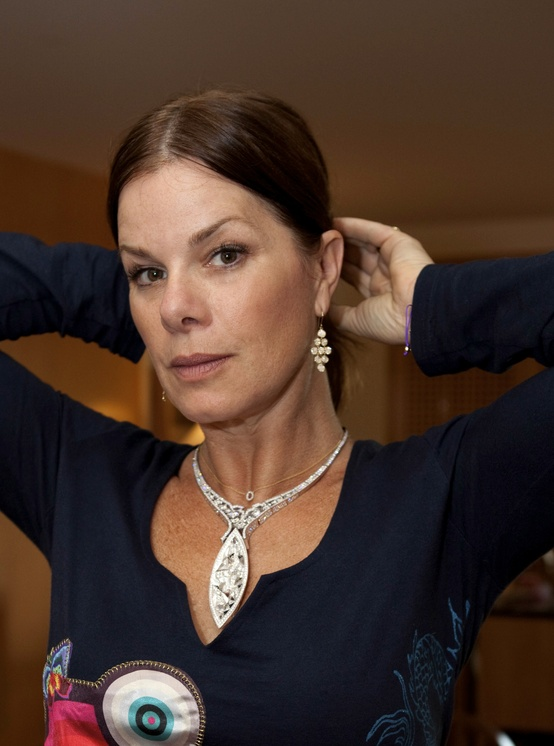 Marcia Gay Harden at the Golden Globes 2012