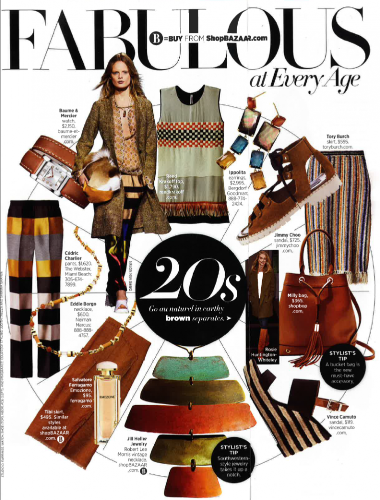 Baume and Mercier as featured in Harper's Bazaar
